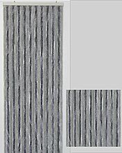 Flauschvorhang Türvorhang Insektenschutzvorhang, Bicolor 90x210cm (hellgrau und dunkelgrau 55150937)