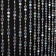 FlavorThings Irisierender Perlenvorhang für Tür,