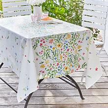 Fleckabweisende Blümchen-Tischdecke mit
