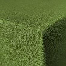 Fleckabweisende Qualitätsstoffe Beschichtete Baumwolle Tischdecke, schmutz- und wasserabweisend, abwaschbar, grün, 160 x 140cm (Größe und Farbe wählbar)