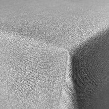 Fleckabweisende Qualitätsstoffe Beschichtete Baumwolle Tischdecke, schmutz- und wasserabweisend, abwaschbar, grau, 250 x 140cm (Größe und Farbe wählbar)
