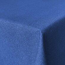 Fleckabweisende Qualitätsstoffe Beschichtete Baumwolle Tischdecke, schmutz- und wasserabweisend, abwaschbar, blau, 160 x 140cm (Größe und Farbe wählbar)