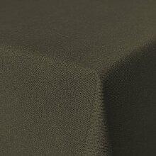 Fleckabweisende Qualitätsstoffe Beschichtete Baumwolle Tischdecke, schmutz- und wasserabweisend, abwaschbar, dunkelbraun, 220 x 140cm (Größe und Farbe wählbar)