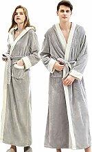 Fleece-Bademantel für Herren und Damen, sehr