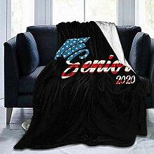 Fleece Blanket America Flag Class of 2020 \U0026
