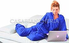 Fleece-Decke mit Ärmeln TV bequem Kornblumenblau