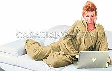 Fleece-Decke mit Ärmeln TV bequem Taupe