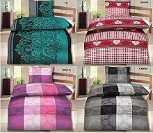 Fleece-Winter-Bettwäsche Garnitur mit RV und