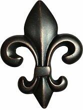 Fleur-de-Lis Bronze Schubladenknauf Ziehgriff,