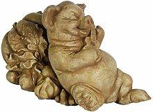 Fleur de Lis Garten-Ornaments LLC Schweine-Statue