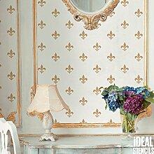 Fleur de Lys Repeat Tapete Schablone Heim Wand