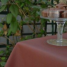 Fleur De Soleil n160rocleu Tischdecke rund 160cm Beschichtete Baumwolle, Stoff, schokoladenbraun, 160x160x0.2 cm
