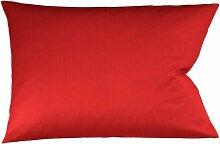fleuresse Bügelfreier Kissenbezug mit Nadelzug, 40x80 cm, 100% Baumwolle, ro