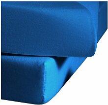 fleuresse Comfort Jerseyspannlaken, meeresblau, 100 x 200 cm