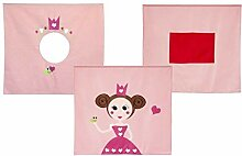 FLEXA BASIC Vorhang für Kinderbett Princess Höhe