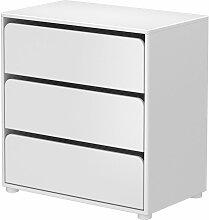 Flexa Cabby Kommode mit 3 Schubladen in weiß