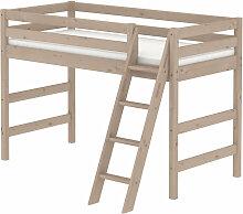 Flexa Classic Mittelhohes Bett aus Holz (90x200cm)