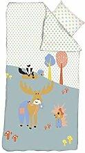 FLEXA Forest Bettwäsche für Kinderbett Decke