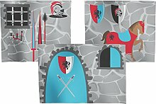 FLEXA Knight Ritter Vorhang für Hochbett Höhe