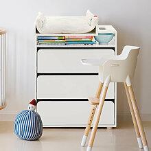 Flexa® Wickeltisch in weiß mit 3 Schubladen &