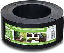Flexible Rasenkante Kunststoff (20 m, schwarz) -
