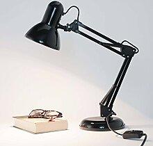 Flexible Schreibtischleuchte in Schwarz inkl. 1x