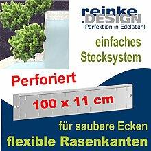 Flexible und perforierte Rasenkanten aus Edelstahl