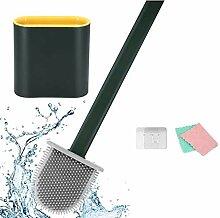 Flexible WC-Bürste aus Silikon mit Wandhalterung