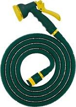 Flexibler Gartenschlauch 33m Grün inkl. Brause