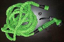 Flexibler grün Gartenschlauch 15 Meter auf 30