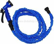 Flexibler Wasserschlauch ca. 7,5m,blau,