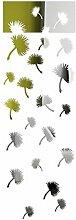 FLEXISTYLE Dekorativer Spiegel Dandelions, Modernes Design Dekoration, 3mm Acryl-Spiegel aus der EU, Wohnzimmer, Schlafzimmer, Flur, unzerbrechlich, DIY-Heimtextilien, Silber, Hergestellt in der EU