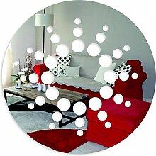 FLEXISTYLE Dekorativer Spiegel Disc, Modernes Design Dekoration, 3mm Acryl-Spiegel aus der EU, Wohnzimmer, Schlafzimmer, Flur, unzerbrechlich, DIY-Heimtextilien, Silber, Hergestellt in der EU