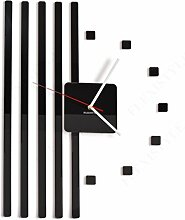 FLEXISTYLE Moderne Wanduhr 3D DIY Points schwarz,