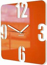 FLEXISTYLE Wanduhr, Orange, Stück: 1