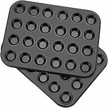 Flexzion Muffinblech Set von 2, 24 Förmchen –
