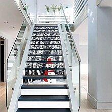 FLFK 3D-Aufkleber für Treppe, Motiv: