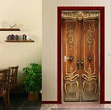 FLFK 3D-Tür-Aufkleber, Simulation, Retro-Tür,