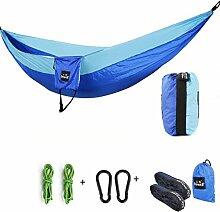 FLH Hängemattenstuhl Outdoor Camping Swing Hängematte Fallschirm Doppel Freizeit Hängematte Portable Portable Hängematte Bequeme Lagerung ( Farbe : C )