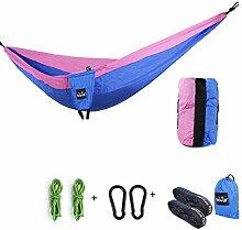 FLH Hängemattenstuhl Outdoor Camping Swing Hängematte Fallschirm Doppel Freizeit Hängematte Portable Portable Hängematte Bequeme Lagerung ( Farbe : D )
