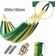 FLH Hängemattenstuhl Outdoor Hängematte Single / Double Thick Canvas Hängematte Camping Hängematte / Hängematte Indoor Chair ( Farbe : A , größe : 200*150cm )