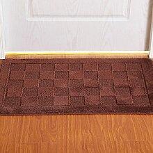 FLH Matratze Tür Matratze Tür Tür Teppich-Decken-Matte Küche Flur Badezimmer Anti - Skid Absorbent Pad Fußmatten ( Farbe : Lila , größe : 50cm*80cm )
