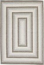 Flickenteppich - Chania (grau) Größe 70 x 200 cm