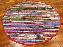 Flickenteppich - Happy (rund) Größe Rund 80 cm