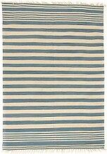 Flickenteppich - Leia (Blau) Größe 140 x 200 cm