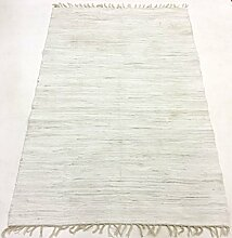 Flickenteppich - Silje (weiß) Größe 200 x 300 cm