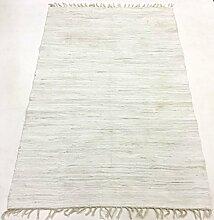Flickenteppich - Silje (weiß) Größe 70 x 200 cm