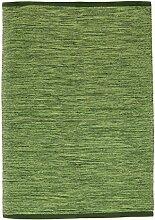 Flickenteppich - Slite (grün) Größe 70 x 200 cm