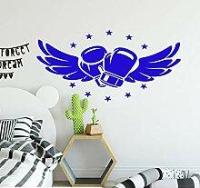 Fliegen Boxhandschuhe Wand Vinyl Aufkleber Für