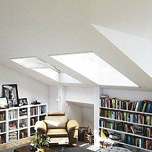 Fliegen-gitter Mücken-schutz Dachfenster-Insektenschutz 110 x 160 cm in Weiß